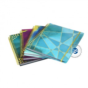 China Printing Service Gold Wire O Binding Daily Planners With Monthly Tabs Round Corners