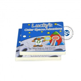 1mm Thick Children's Cardboard Book With Round Corner Gloss Lamination