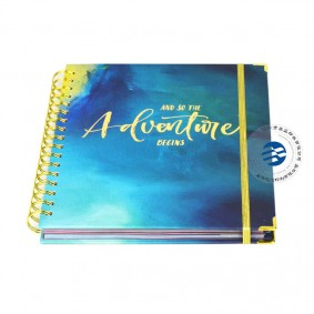 Gold Wire O Binding Daily Notebook Planners With Monthly Tabs Round Corners China Printing Services