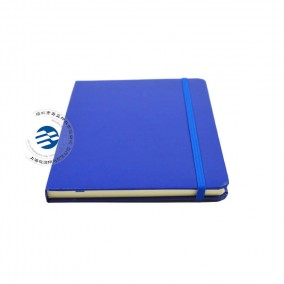China Custom PU Leather Cover Notebook With Elastic Round Corner
